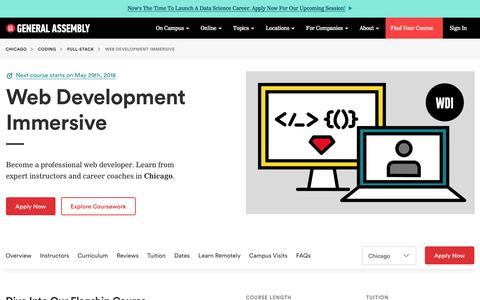 Become a Web Developer in Chicago - Web Development Course | General Assembly