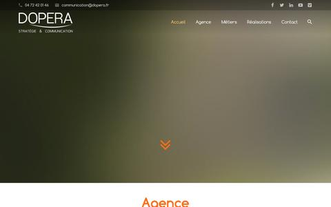 Screenshot of Home Page dopera.fr - DOPERA - Agence en Stratégie de Communication - captured Jan. 7, 2016