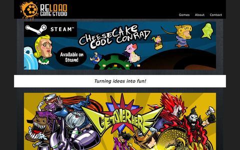 Screenshot of Home Page reloadgamestudio.com - Reload Game Studio - captured Aug. 16, 2015