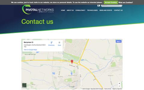 Screenshot of Contact Page pivotalnetworks.co.uk - Contact us : Pivotal Networks - captured Nov. 2, 2014