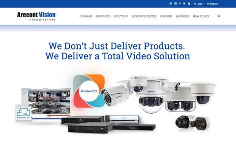 Screenshot of Products Page arecontvision.com - Arecont Vision Costar Products - captured July 14, 2019