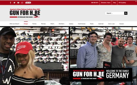 Screenshot of Pricing Page gunforhire.com - Range Membership | Gun For Hire - captured Nov. 11, 2018