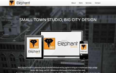 Screenshot of Home Page About Page Contact Page Services Page blackelephantstudios.com - Black Elephant Studios | Web-Mobile-SEO-Design - captured Jan. 5, 2016