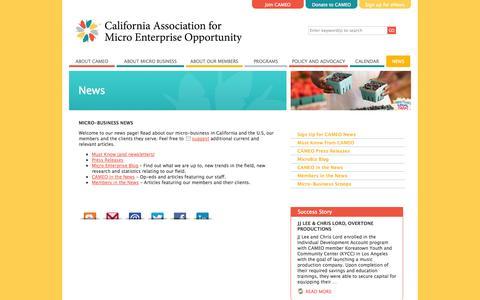 Screenshot of Press Page microbiz.org - Micro-business News  «  CAMEO - captured Oct. 1, 2014