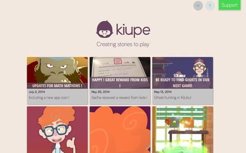 Screenshot of Press Page kiupe.com - News - Kiupe - captured Sept. 30, 2014