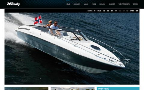 Screenshot of Home Page windyboats.com - Windy Boats - captured Oct. 9, 2014