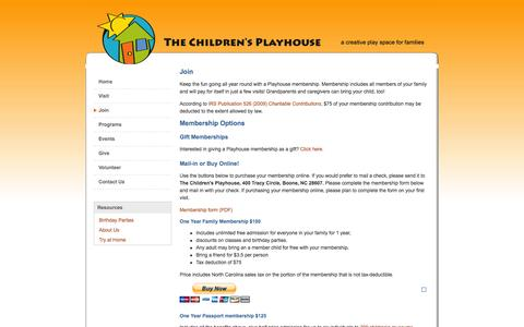 Screenshot of Signup Page goplayhouse.org - The Children's Playhouse - captured May 25, 2016