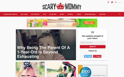 Screenshot of Home Page scarymommy.com - Scary Mommy - A parenting website for imperfect parents Scary Mommy - captured Nov. 11, 2015