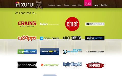 Screenshot of Press Page pixuru.com - Press   Pixuru - captured Sept. 30, 2014