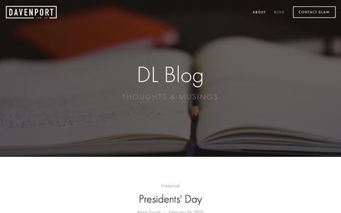 Screenshot of Blog davenportlaw.com - Blog Ń Davenport Law - captured Jan. 9, 2016