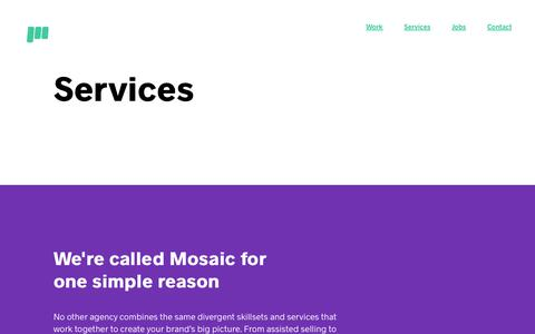 Mosaic | Services