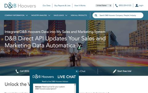 CRM Data Integration Solutions - D&B Hoovers