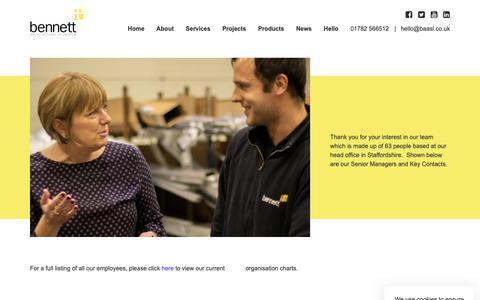 Screenshot of Team Page baasl.co.uk - Our Team   Bennett Architectural Aluminium - captured Oct. 5, 2018