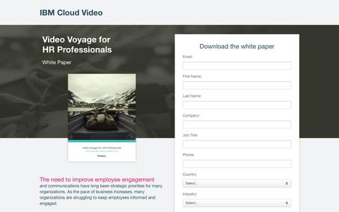 Screenshot of Landing Page ustream.tv - Video Communication Strategy for HR Pros | IBM Cloud Video - captured July 25, 2017
