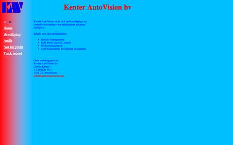Screenshot of Home Page kenterautovision.com - Kenter AutoVision bv - captured Nov. 15, 2018