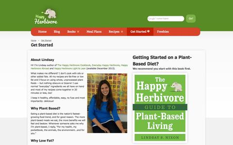 Screenshot of About Page happyherbivore.com - New Here | Happy Herbivore - captured Oct. 22, 2014