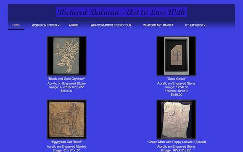 Screenshot of Home Page bulmanfineart.com - Bulman Fine Art - captured Aug. 4, 2018