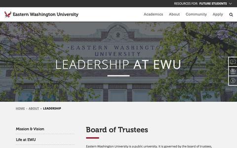 Screenshot of Team Page ewu.edu - Leadership – Eastern Washington University - captured Sept. 22, 2018