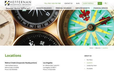 Screenshot of Locations Page heffins.com - Locations | Heffernan Insurance Brokers - captured Nov. 5, 2016