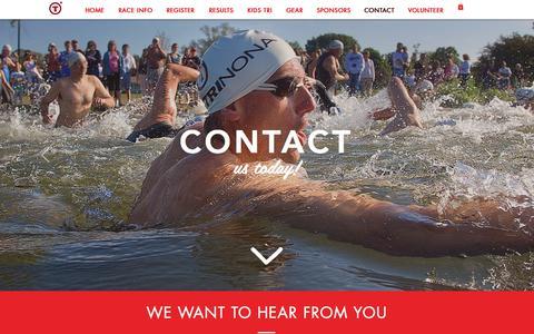 Screenshot of Contact Page trinona.com - trinona | CONTACT - captured Nov. 13, 2017