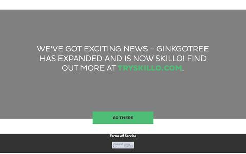 Screenshot of Home Page ginkgotree.com - Ginkgotree - captured July 31, 2016