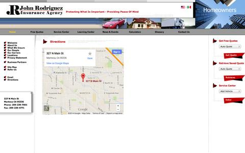 Screenshot of Maps & Directions Page jrodins.com - Auto Insurance. Agency Locations - captured Oct. 6, 2014