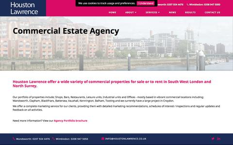 Screenshot of Services Page houstonlawrence.co.uk - Houston Lawrence - Commercial Estate Agency - captured July 23, 2018