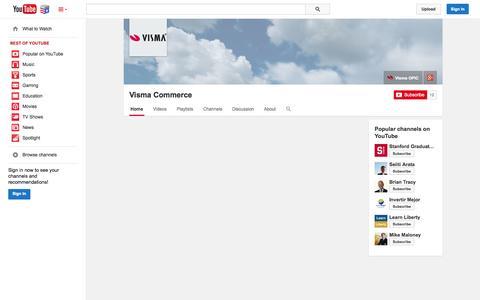 Screenshot of YouTube Page youtube.com - Visma Commerce  - YouTube - captured Nov. 4, 2014
