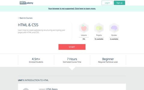 HTML & CSS | Codecademy
