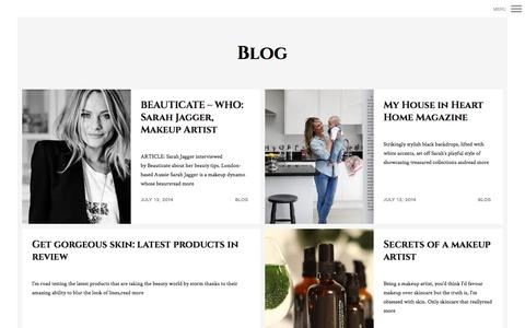 Screenshot of Blog sarahjagger.co.uk - Blog | Sarah Jagger - captured Sept. 30, 2014
