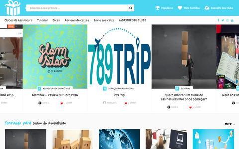 Screenshot of Home Page sitedeassinatura.com - Clubes de assinatura e sites de assinatura - captured July 2, 2017