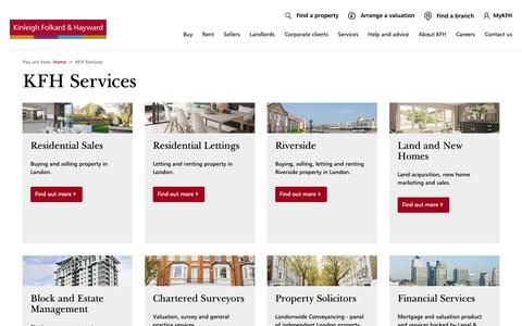 Screenshot of Services Page kfh.co.uk - KFH Services - captured Oct. 28, 2018