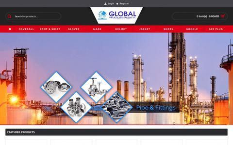 Screenshot of Products Page globalintluae.com - Global International - captured Nov. 10, 2018