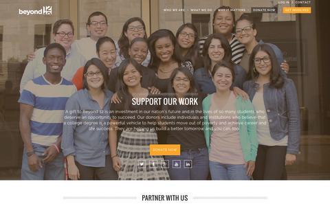 Screenshot of Login Page beyond12.org - Get Involved | Beyond12 - captured Jan. 2, 2016