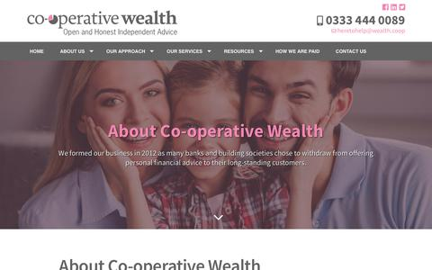 Screenshot of About Page wealth.coop - About Us | Co-operative Wealth | Derby - captured Nov. 10, 2018