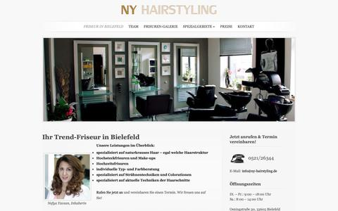 Screenshot of Home Page ny-hairstyling.de - Friseur NY Hairstyling in Bielefeld-Sieker - captured Oct. 30, 2018