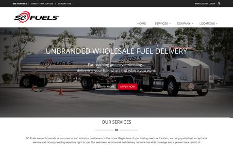 Screenshot of Home Page scfuels.com - Fuel Distribution and Service - SC Fuels - captured May 25, 2017