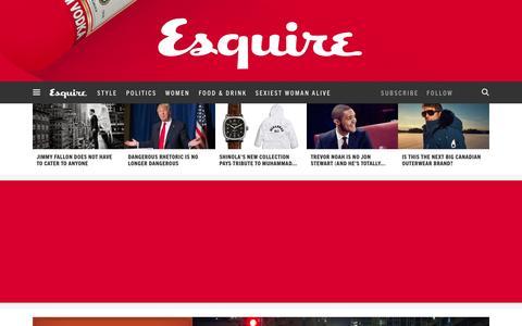 Screenshot of Home Page esquire.com - Esquire - Men's Fashion, Cocktails, Politics, Interviews, and Women - captured Nov. 25, 2015
