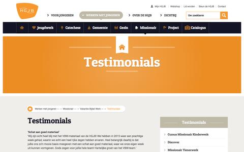 Screenshot of Testimonials Page hgjb.nl - Testimonials - HGJB - captured July 9, 2016