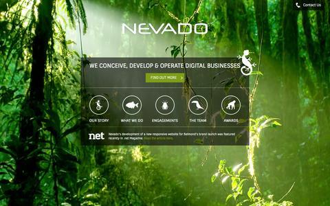 Screenshot of Home Page nevado.co.uk - Nevado :: Web Design, Development, Online Marketing, Analytics - captured Aug. 16, 2015