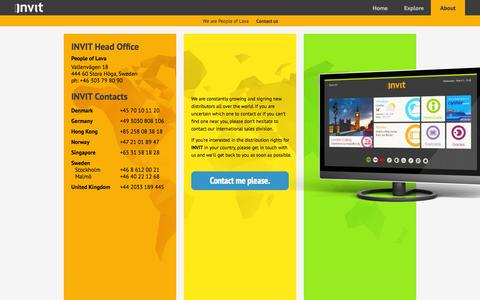 Screenshot of About Page invitpeople.com - INVIT by People of Lava - captured Oct. 2, 2014