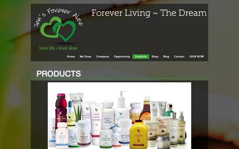 Screenshot of Products Page foreverliving-thedream.co.uk - Products | Forever Living ~ The DreamForever Living ~ The Dream - captured Oct. 4, 2014