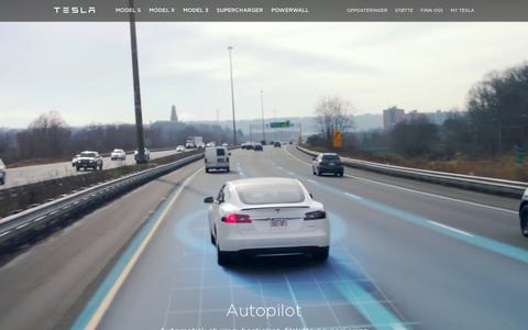 Screenshot of teslamotors.com - Tesla Motors Norge | Førsteklasses elektriske biler - captured April 7, 2016