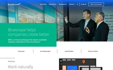 Bluescape | A Virtual Workspace for Team Collaboration