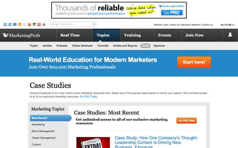 Marketing Case Studies, Online Marketing Real World Examples  - MarketingProfs - Most Recent