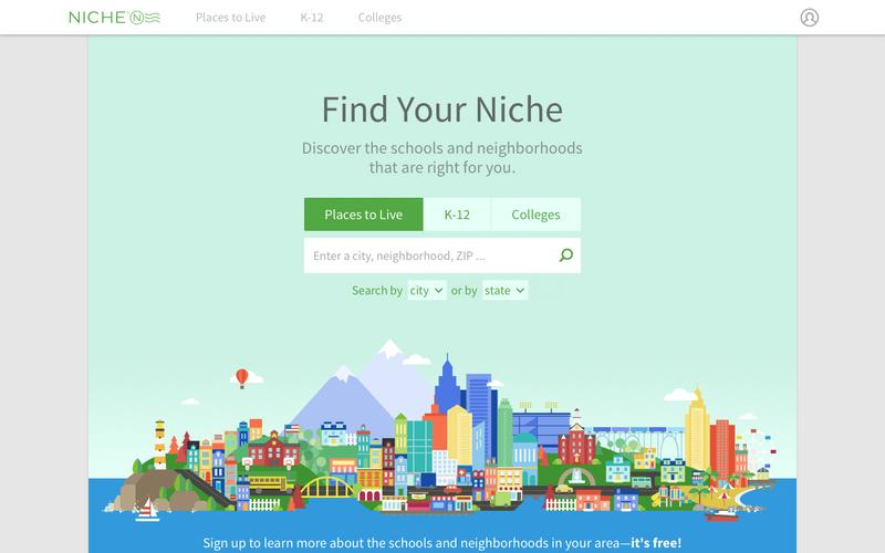 Screenshot Niche: Explore Schools and Neighborhoods