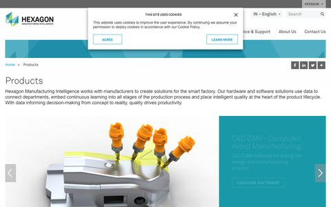 Screenshot of Products Page hexagonmi.com - Products | Hexagon Manufacturing Intelligence - captured Oct. 21, 2018