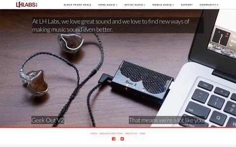 Screenshot of Home Page lhlabs.com - LH Labs - Precision digital audio. - captured Nov. 30, 2015