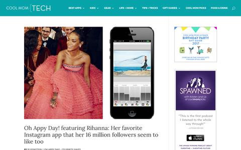 Oh Appy Day! - Celebrity faves Archives   Cool Mom Tech