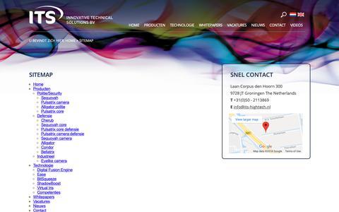 Screenshot of Site Map Page its-hightech.nl - Sitemap - captured Oct. 12, 2018